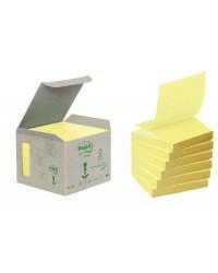 Post it tour R330 de 6 blocs 100F Z NOTES 76X76 recyclé JAUNE BP324