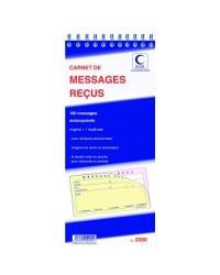 Elve carnet autocopiant 160 MESSAGES RECUS DUPLI 2090