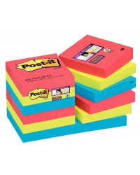 Post it lot 12 blocs 90F notes SUPER STICKY BORA BORA 47.6X47.6 BP835