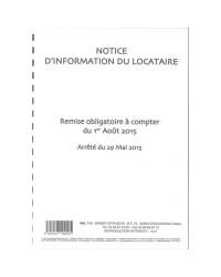 Weber Diffusion, Notice d'information du LOCATAIRE, 719N