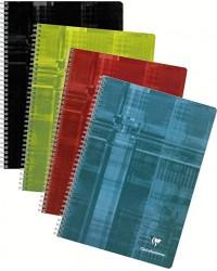 Clairefontaine Cahier à spirale A4, 210x297mm, Grands carreaux séyès, 224 pages, 8171C