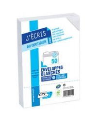 GPV Enveloppes C6, 114x162, Blanches, 75g, Auto adhésives, GPV 515