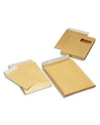 GPV 50 Pochettes Enveloppes kraft armé C4 229x324 Soufflets 3 CM Fenêtre 50x100 130G 5007