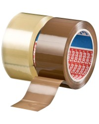 Tesa Ruban adhésif emballage, PP, 4195, 50 mm x 66 m, Havane, 60 Microns, 04195-00001-04