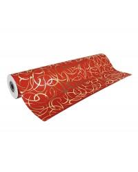 Clairefontaine rouleau papier cadeau 0.7x50M ROUGE ARABESQUES OR 211894C
