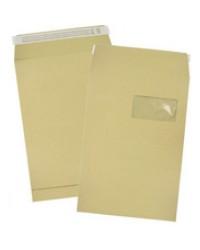 GPV Pochettes à soufflets, C4, 229 x 324 mm, kraft brun 120G, Fenêtre, 4922