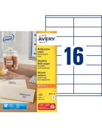 Avery boite 1600 étiquettes multi usages 105X35 3423-100