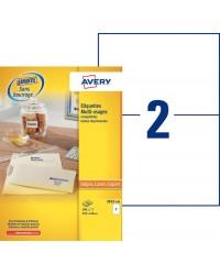 Avery Etiquettes A5, 210 x 148 mm, Multi usages, Boîte de 200, 3655-100