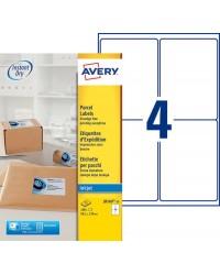 Avery boite 100 étiquettes d'expédition jet d'encre 99.1X139 J8169-25