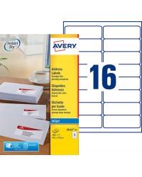 Avery boite 400 étiquettes adresses jet d'encre 99.1X33.9 J8162-25