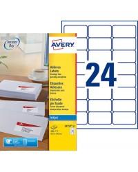Avery boite 600 étiquettes adresses jet d'encre 63.5X33.9 J8159-25