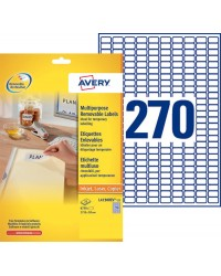 Avery Etiquettes enlevables, 17.8 x 10 mm, Paquet de 8100, L4730REV-25