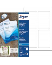 Avery paquet 100 cartes de visite bords lisses 82X128 260G MAT jet d'encre C2318-25