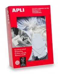 Apli Agipa boite 1000 étiquettes BIJOUTERIE fil blanc 15X24MM 388