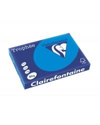 Clairefontaine Papier A3, 80g, TROPHEE, Bleu turquoise, Ramette de 500 feuilles, 1886C