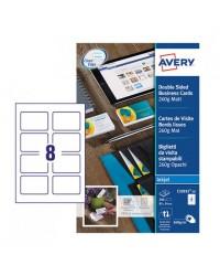 Avery paquet 80 cartes de visite 260G MAT Jet d'encre C32015-10