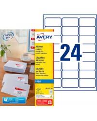 Avery paquet 2400 étiquettes adresses 63.5X33.9 Jet d'encre J8159-100