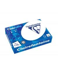 Clairefontaine Papier A4, Blanc, 110g, CLAIRALFA, CIE 171, Ramette de 500 feuilles, 2110C