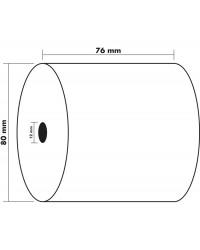 Exacompta bobine papier pour tickets caisse 76X80X12MM 55 Metres 7680120V