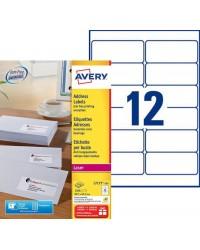Avery boite 1200 étiquettes adresses 99.1X42.3 LASER L7177-100