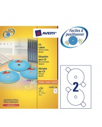 Avery boite 200 étiquettes CD DVD opaques L7676-100