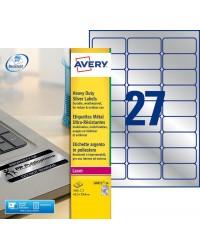 Avery paquet 540 étiquettes METAL 63X29 LASER L6011-20