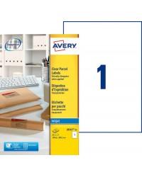 Avery paquet 25 étiquettes A4 invisibles transparentes 210X297 J8567-25