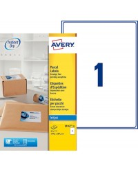 Avery paquet 25 étiquettes blanches A4 Jet d'encre 210x297 J8167-25
