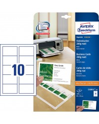 Avery Cartes de visite, 85 x 54 mm, 200G, Blanc mat, Quick & clean, C32011-25