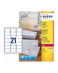 Avery paquet 5250 étiquettes adresses 63.5X38.1 LASER L7160-250