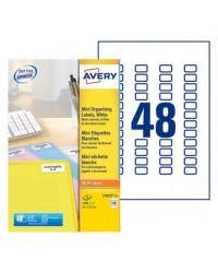 Avery paquet 1200 Mini étiquettes blanches 22X1.7 LASER L7653-25