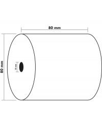 Exacompta bobine papier thermique tickets caisses 80X80X12 76M SANS BPA 43816E