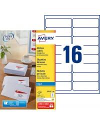 Avery paquet 1600 étiquettes adresses 99.1X33.9 Jet d'encre J8162-100