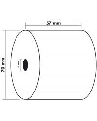 Exacompta bobine papier pour caisse et calculatrice 57X70X12MM 44M 40592E