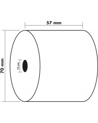 Exacompta Bobine de papier, Caisse et calculatrice, 57x70x12 mm, 44 m, 5770120V