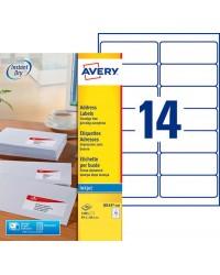 Avery paquet 1400 étiquettes adresses 99.1X38.1 Jet d'encre J8163-100