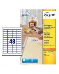 Avery paquet 1440 étiquettes blanches enlevable 45.7X21.2 L4736REV-25