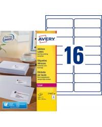 Avery paquet 640 étiquettes adresses 99.1X33.9 LASER L7162-40