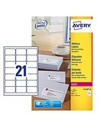 Avery paquet 840 étiquettes adresses 63.5X38.1 LASER L7160-40