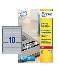 Avery paquet 200 étiquettes METAL 96X50.8 LASER L6012-20