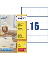 Avery paquet 1500 étiquettes multi usages 70X50.8 3669-100