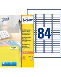 Avery paquet 2100 Mini étiquettes blanches 46X11.1 DIAPO L7656-25
