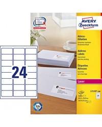 Avery paquet 2400 étiquettes adresses 63.5X33.9 LASER L7159-100