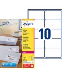 Avery paquet 1000 étiquettes adresses 99.1X57 LASER L7173-100