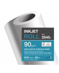 Clairefontaine bobine de papier pour traceur CLAIRJET 1300 90G 0.610X45 2545C