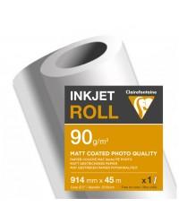 Clairefontaine bobine papier couché MAT traceur 90G 0.914X45 2664SC