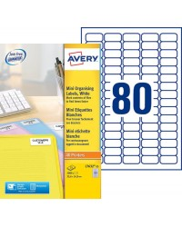 Avery Etiquettes mini, 35.6 x 16.9 mm, Paquet de 2000, L7632-25