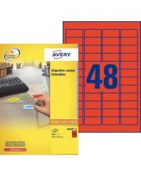 Avery paquet 960 étiquettes rouge enlevables 45.7X21.2 LASER L6038-20