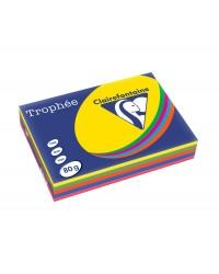 Clairefontaine ramette 5X100F papier A4 TROPHEE 80G couleurs intenses assorties 1704SC