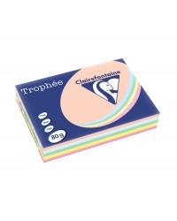 Clairefontaine ramette 5X100F papier A3 TROPHEE 80G couleurs pastel assorties 1703C